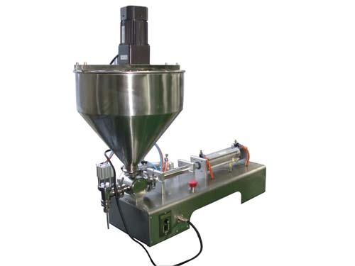 Paste filling machine with piston pump