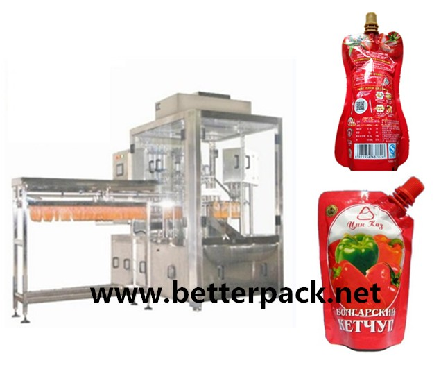stand up pouch packaging machine for ketchup